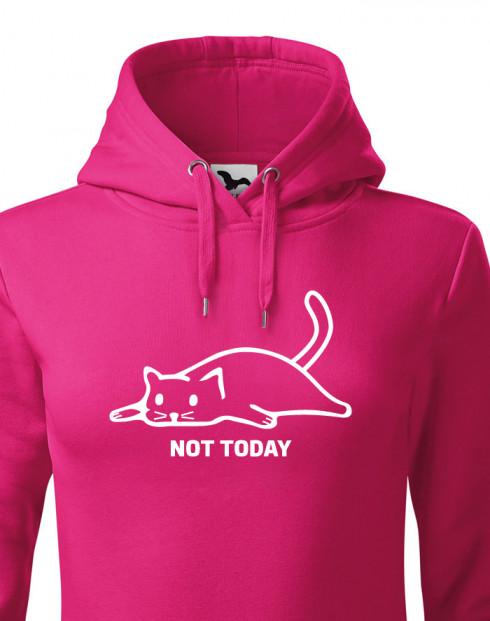 Dámská mikina s kočkou Not today