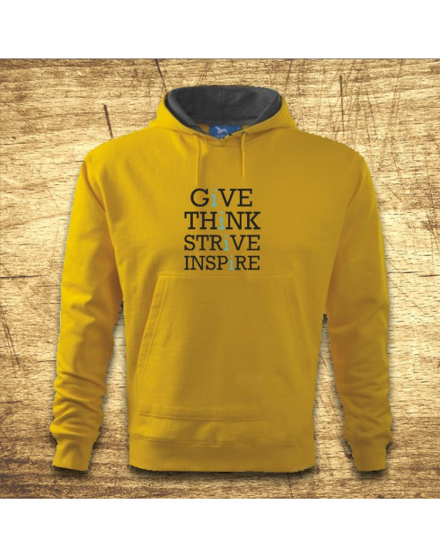 Give, think, strive, inspire