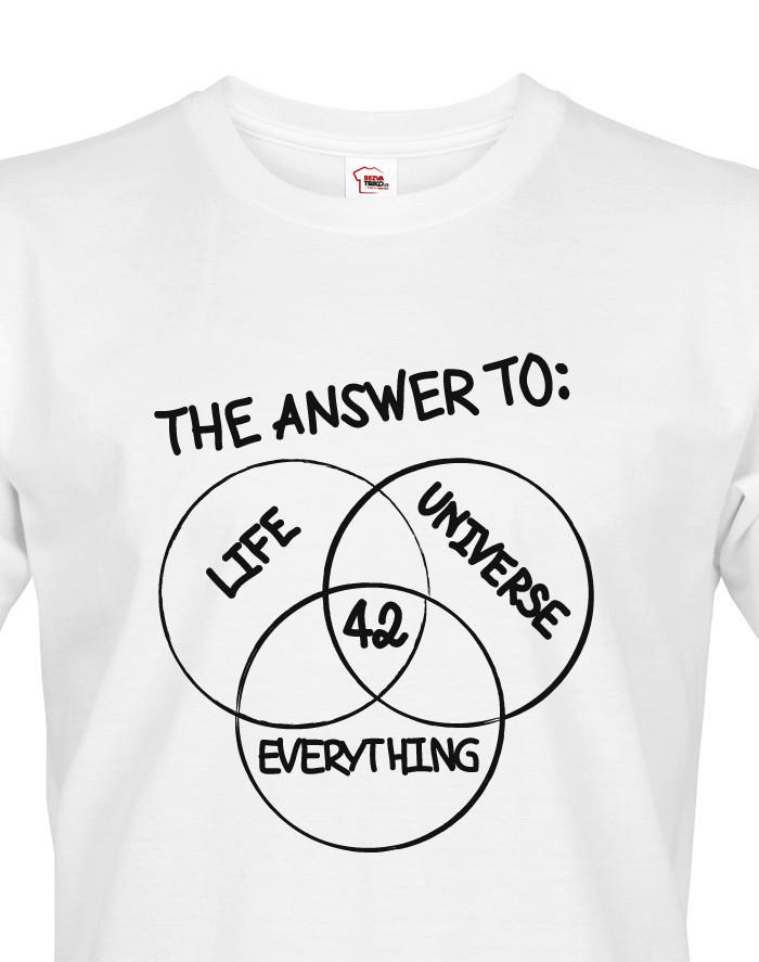 Pánské tričko Answer is 42