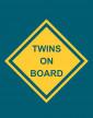 Těhotenské tričko Twins on board