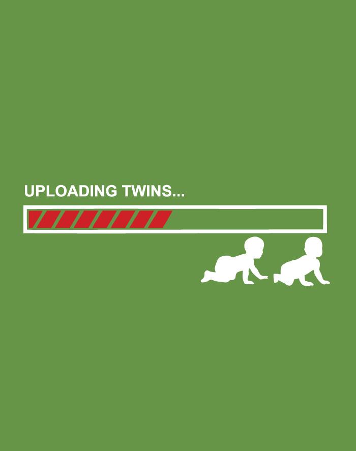 Těhotenské tričko Uploading twins...