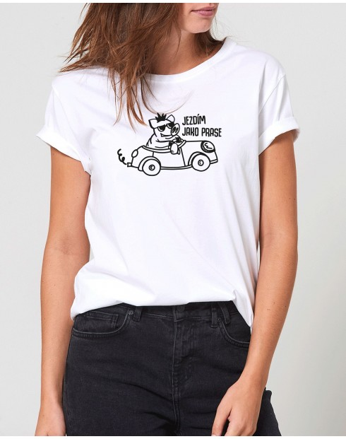 Dámské tričko Jezdím jako prase