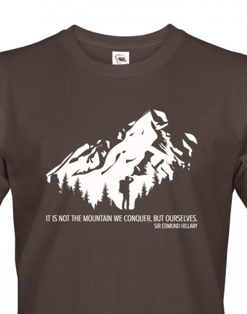 Pánské triko s citátem Edmunda Hillaryho
