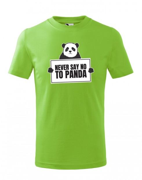 Dětské tričko Never say no to Panda