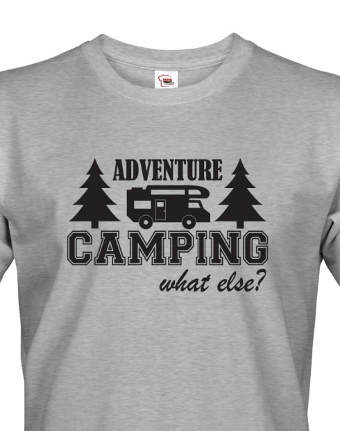 Pánské tričko s karavanem - Adventure Camping
