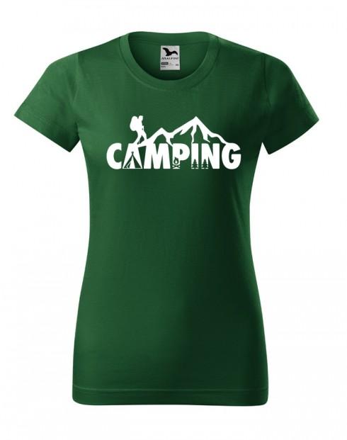 Dámské tričko na kempování