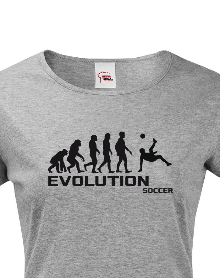 Dámské tričko evoluce fotbalu