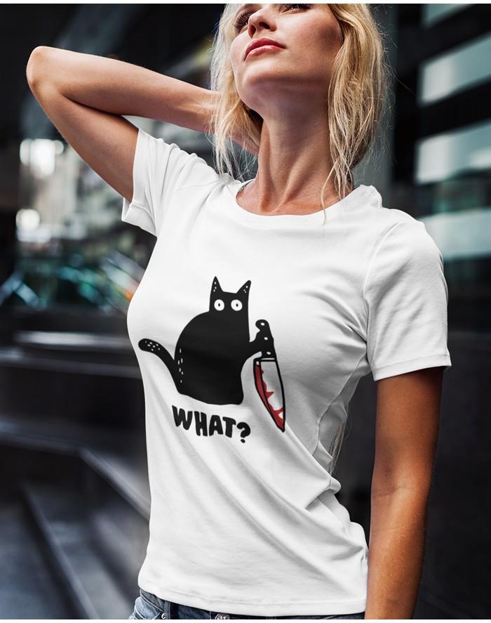 Dámské triko s kočkou What