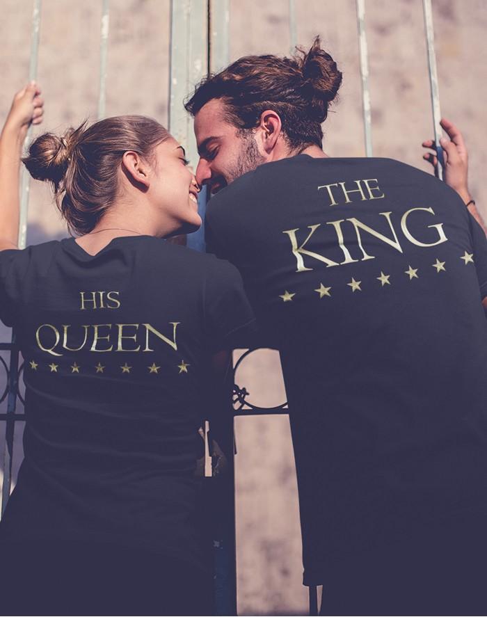 Trička pro páry King a Queen