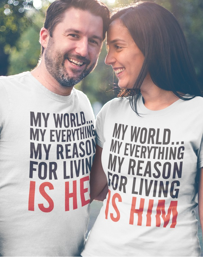 Trika pro páry My reason for living is her - him