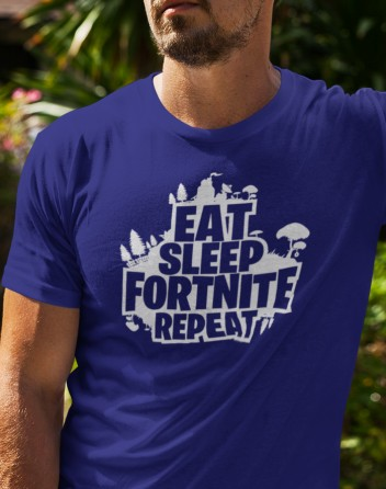 Pánské tričko Eat Sleep Fortnite Repeat