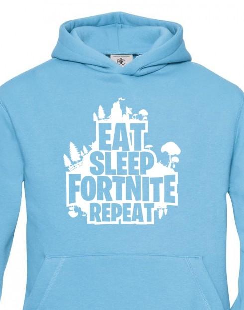 Dětská mikina Eat Sleep Fortnite Repeat