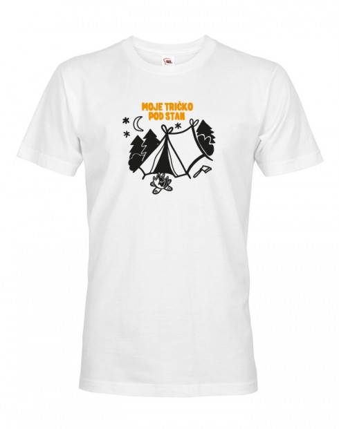 "Pánské tričko ""Moje tričko pod stan"""