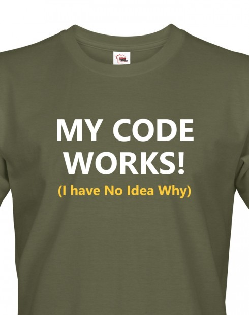 Pánské tričko My Code Works