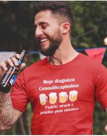 Pánské tričko s pivním potiskem Diagnóza