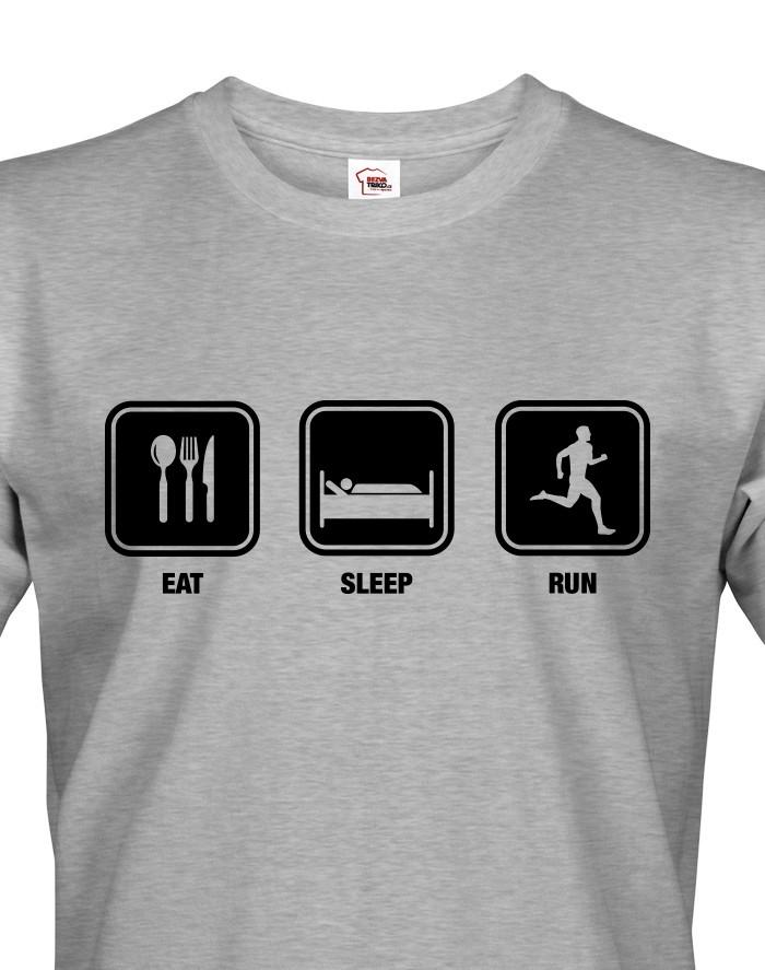 Pánské tričko EAT SLEEP RUN