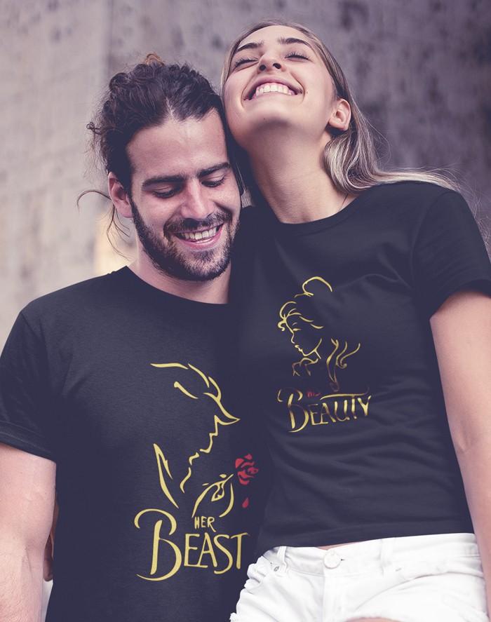 Párová trička Beast Beauty