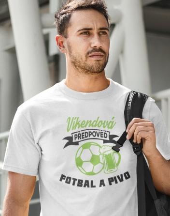 Pánské tričko s potiskem na fotbal Víkendová předpověď