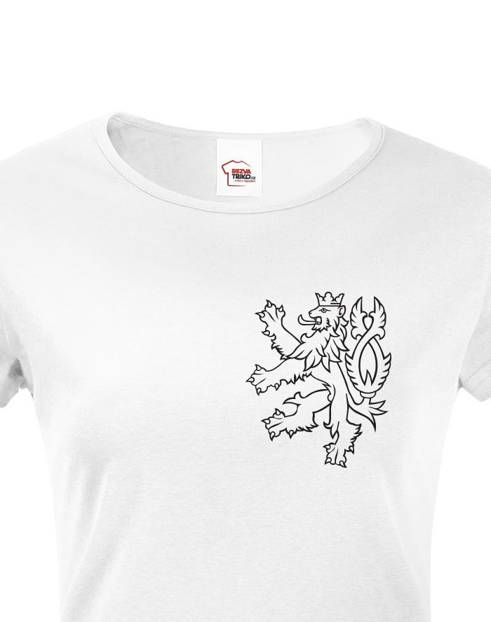 Dámské tričko Český lev 2
