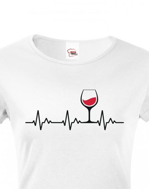 Dámské tričko Tep vína