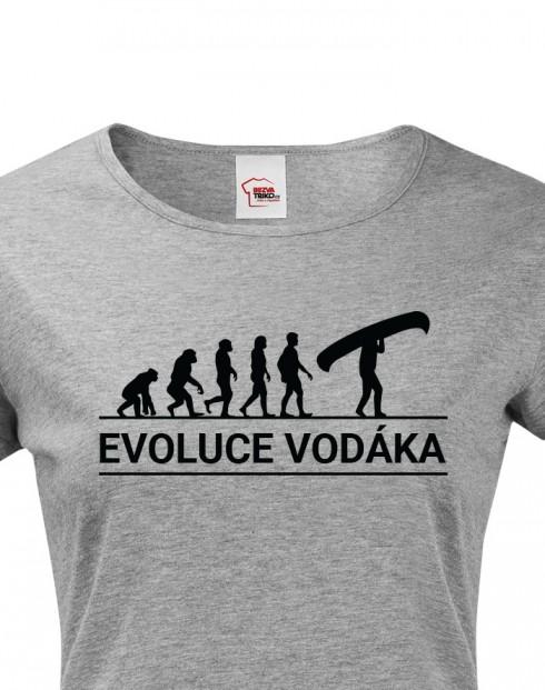 Dámské tričko Evoluce vodáka
