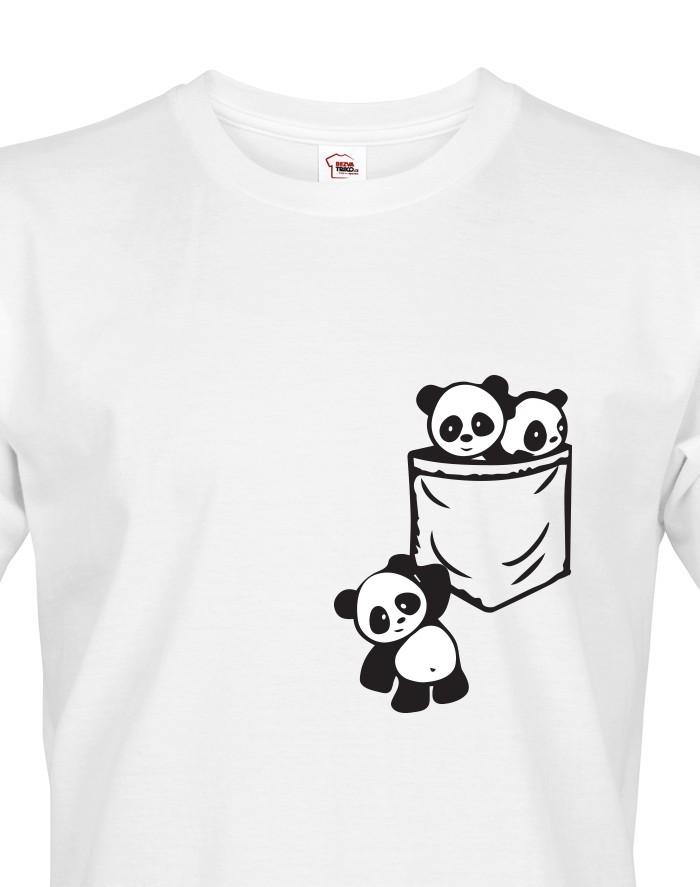 Pánské tričko Pandy v kapse