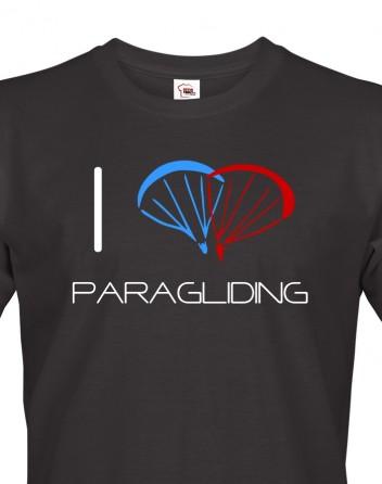 Pánské tričko I love paragliding