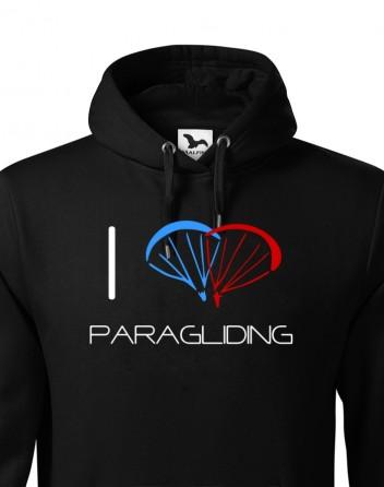 Pánská mikina I love paragliding