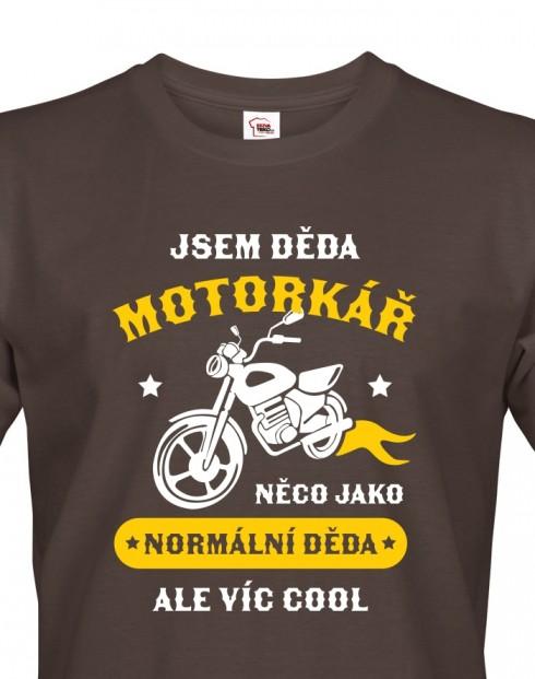 Pánské triko Děda motorkář