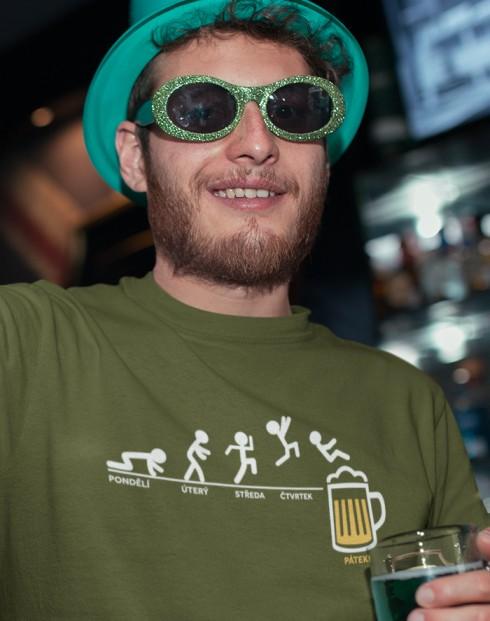 Pánské tričko Pondělí pátek pivo