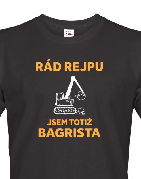 Pánské tričko pro bagristu