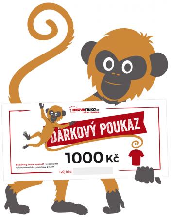 Tištěný dárkový poukaz 1000 Kč