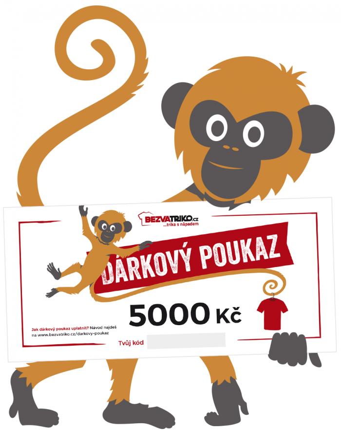 Tištěný dárkový poukaz 5000 Kč