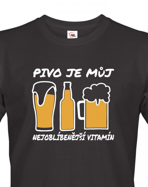 Pánské tričko Pivo je vitamín