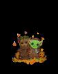 Dámské tričko Mistr Yoda a Groot