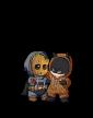 Dámské tričko Batman a Groot