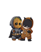 Pánská mikina Batman a Groot