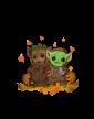 Pánská mikina Mistr Yoda a Groot