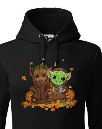Dámská mikina Mistr Yoda a Groot