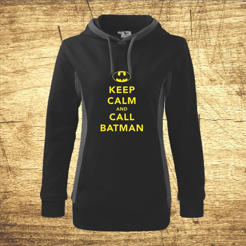 Dámska mikina s motívom Keep calm and call Batman. b007dd7c656