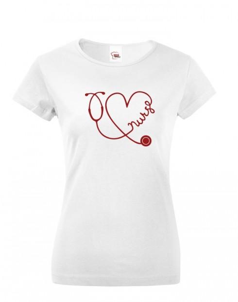 Dámské tričko pro zdravotní sestry Nurse
