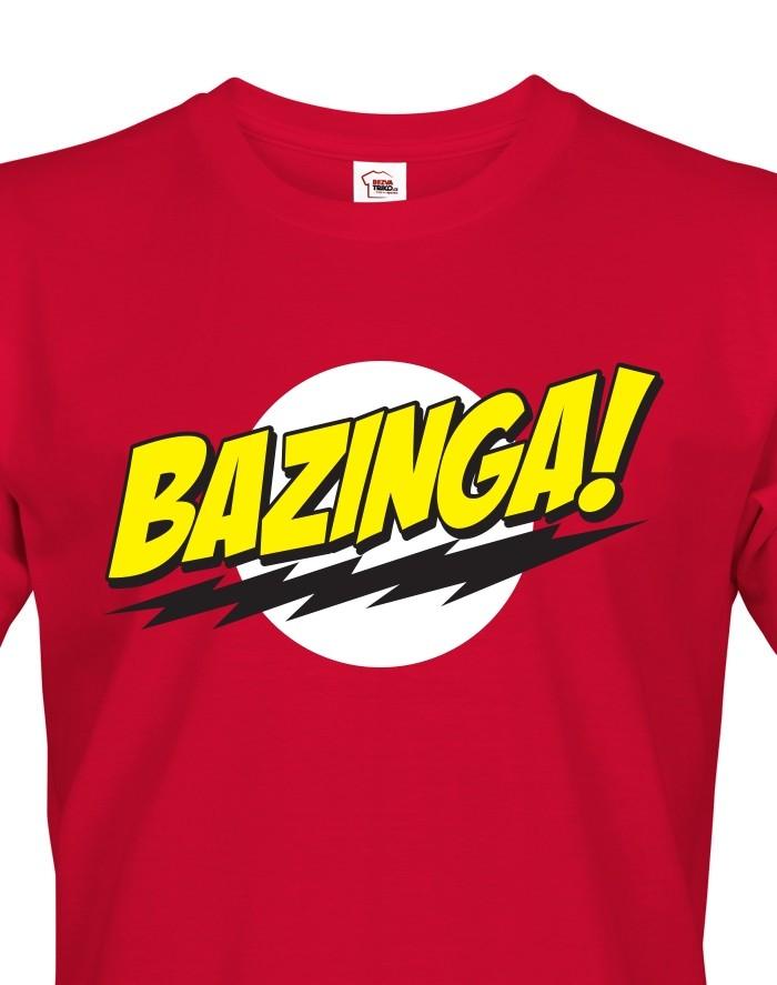 Pánské tričko Bazinga -Teorie velkého třesku