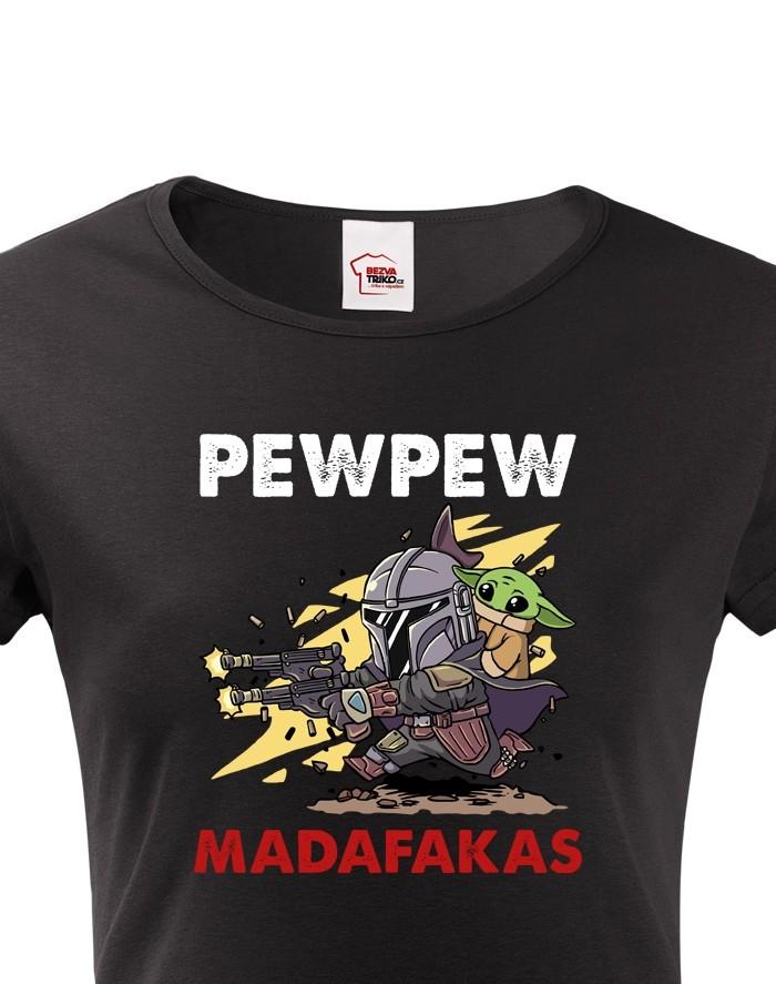 Dámské tričko Mandalorian Baby Yoda