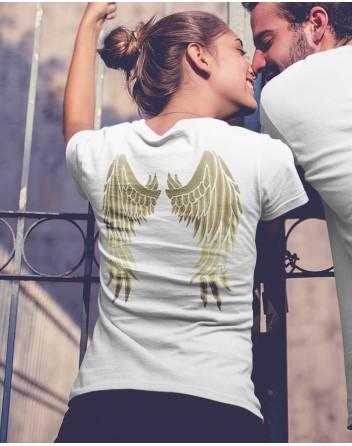 Dámské tričko s andělskými křídly na zádech