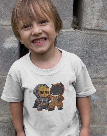Dětské tričko Batman a Groot