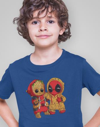 Dětské tričko Deadpool a Groot