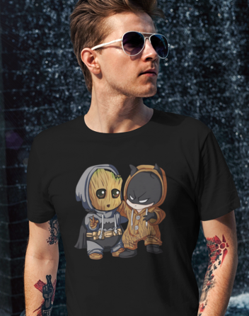 Pánské tričko Batman a Groot