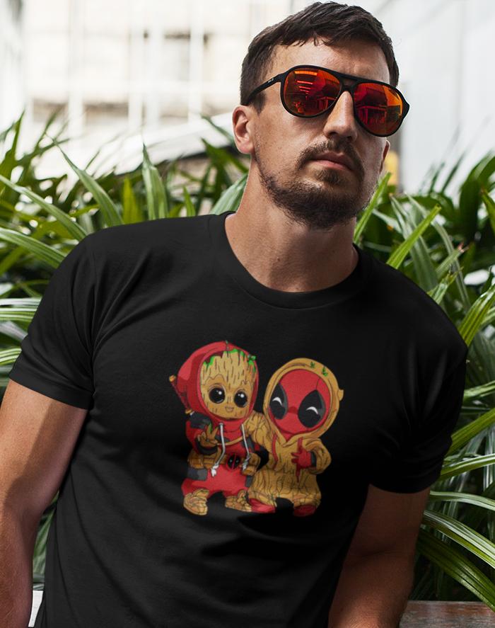 Pánské tričko Deadpool a Groot