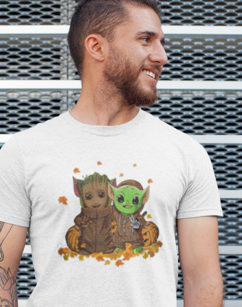 Pánské tričko Mistr Yoda a Groot