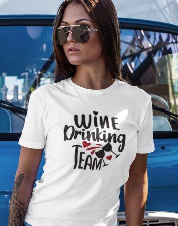 Dámské tričko Wine Drinking team
